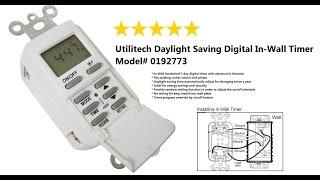 utilitech daylight saving digital in wall timer model 0192773