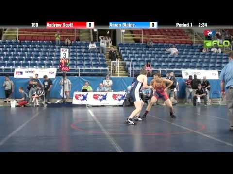 Junior 160 - Andrew Scott (Michigan) vs. Aaron Blaine (Washington)