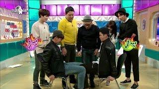 【TVPP】Jackson(GOT7) - Thigh Wrestling, 잭슨(갓세븐) - 진정한 돌벅지를 가려라! 바로와의 허벅지 씨름 대결 @ Radio Star