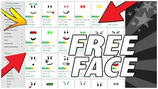 HOW TO GET FREE FACES ON ROBLOX! (2018)*WORKING*
