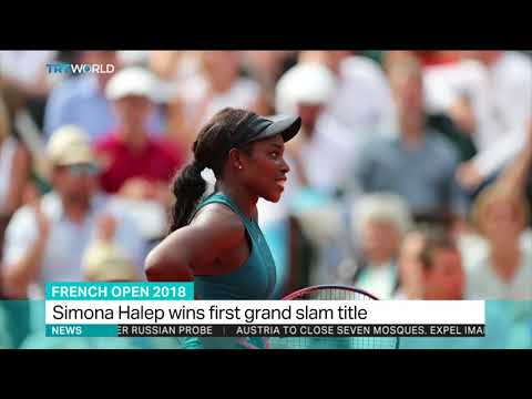 Simona Halep wins first grand slam title