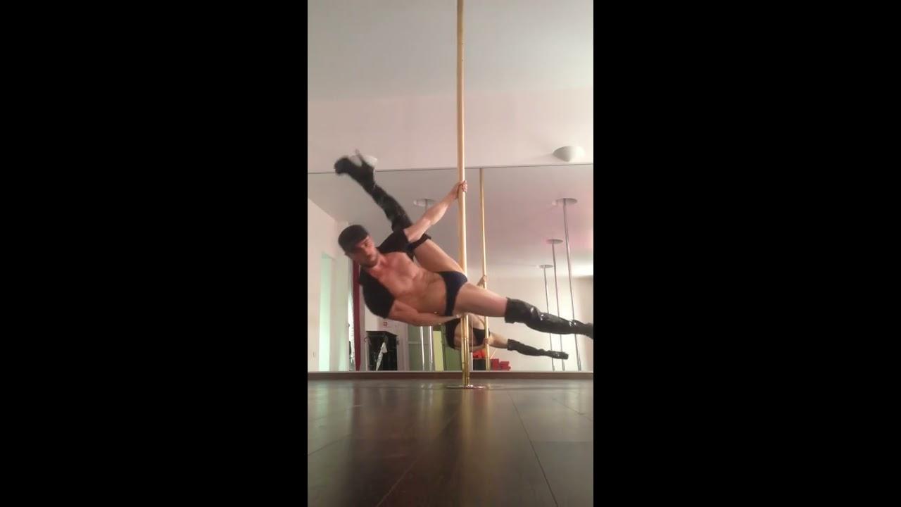 920962501 Guy pole dancing in high heels - YouTube