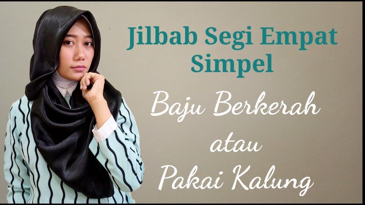 7 Tutorial Hijab Cara Pakai Jilbab Segi Empat Satin Yang Simpel