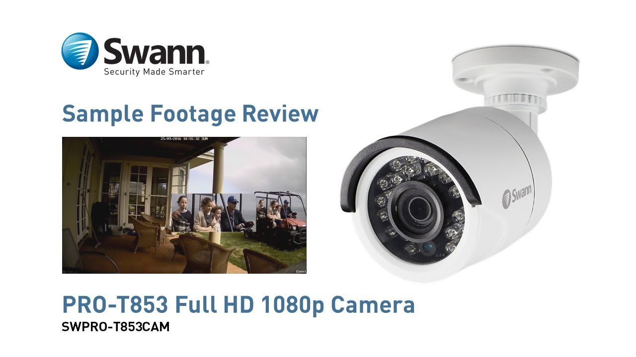 8cd3d6fff0da9 Swann PRO-T853 1080p Full HD Security Camera - Sample CCTV Footage Video  Review