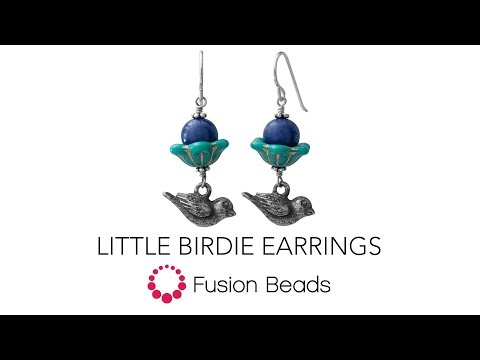 See how to make these easy Little Birdie Earrings