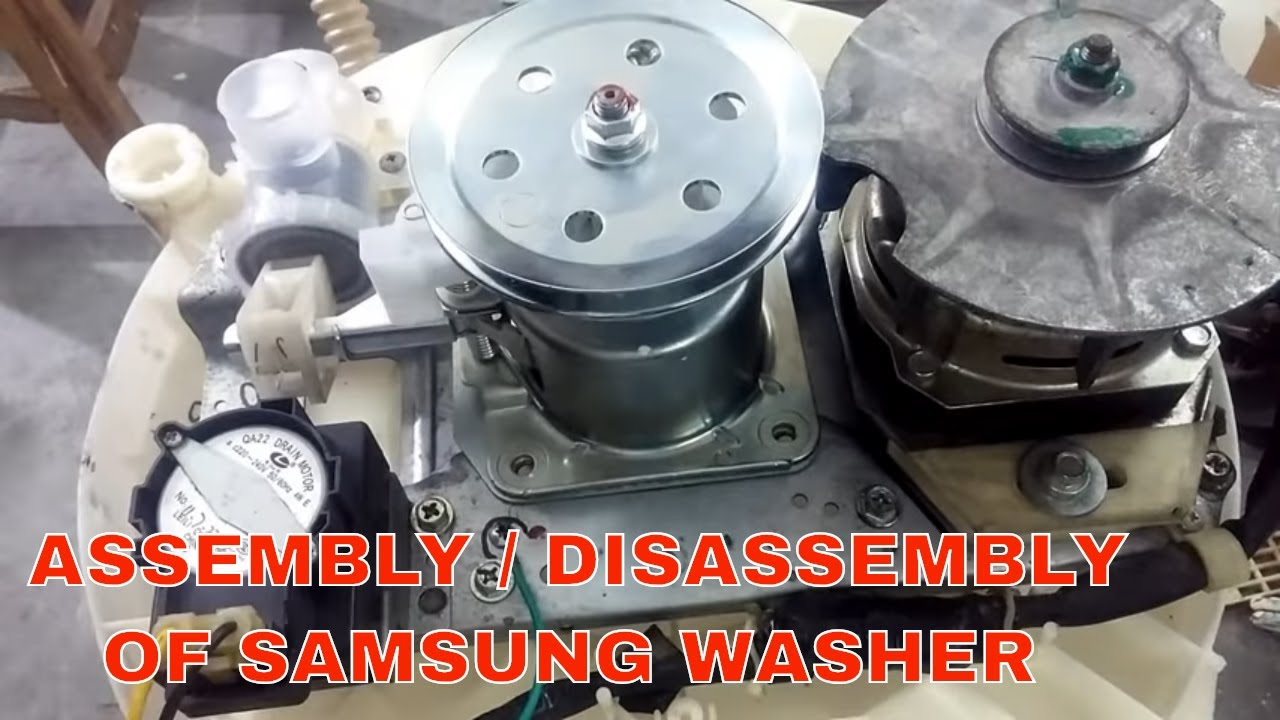 Samsung Top Load Washer Mechanism Replacement Disassembled Assembled Youtube