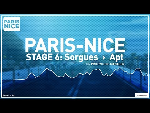 PARIS-NICE 2020: Stage 6 // Sorgues › Apt // Pro Cycling Manager 2019 // @Timmsoski  