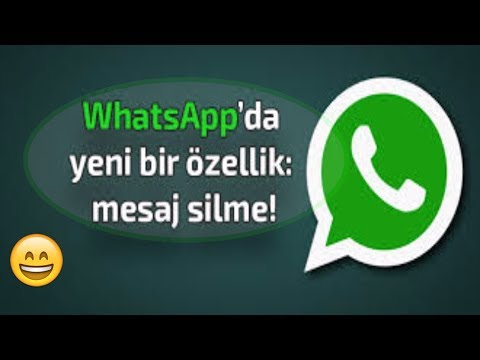 Whatsapp Mesaj Silme, Mesajı Geri Alma, Whatsapp Mesajı Nasıl Silinir? Whatsapp Yeni özellik