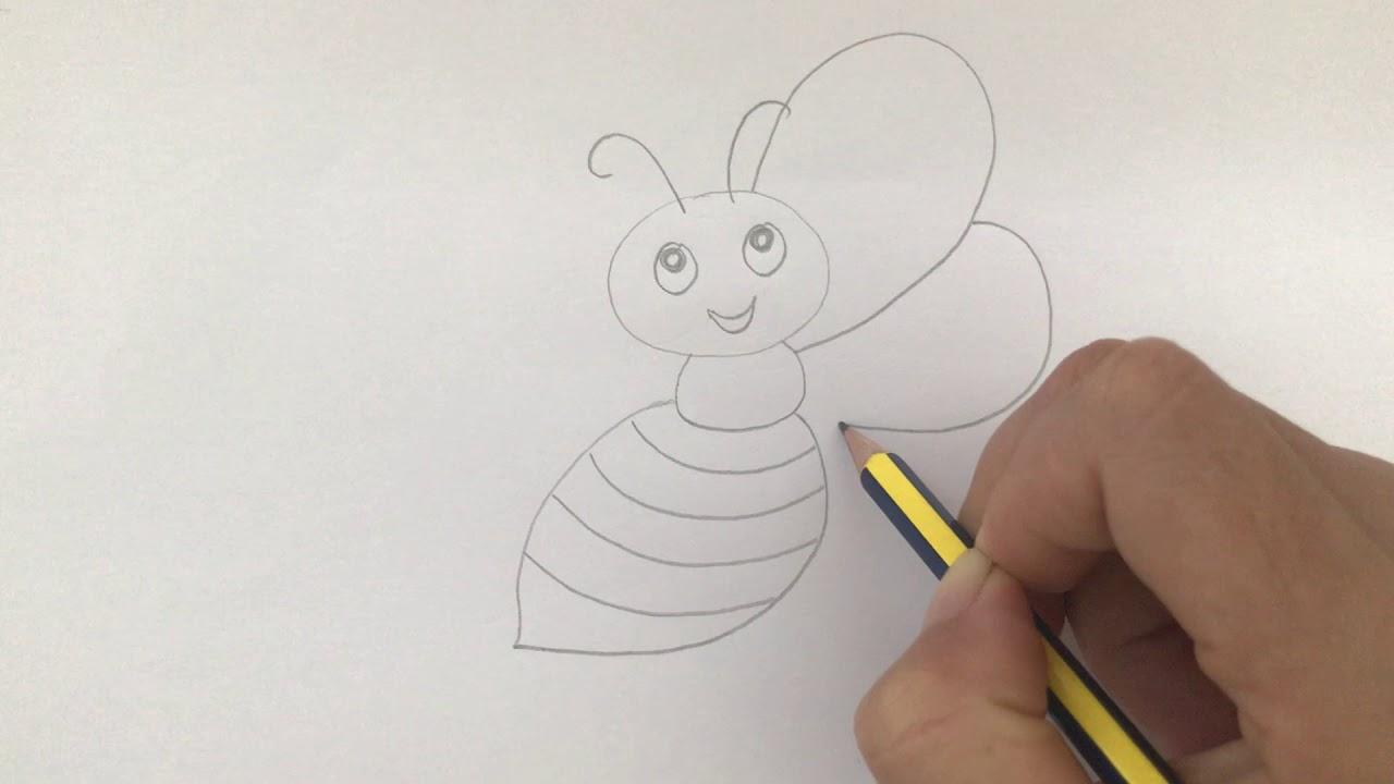 Hướng dẫn vẽ CON ONG đơn giản   How to draw a bee   Waky Kids