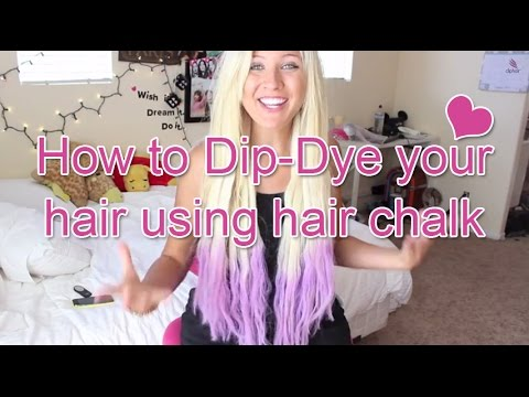How to Dip-Dye your hair using hair chalk -Cliphair - YouTube