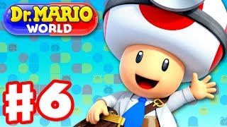 Dr. Mario World - Gameplay Walkthrough Part 6 - Dr. Toad! Levels 61-70 3-Star! (iOS)