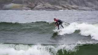 Surfing in Härnösand, Sweden
