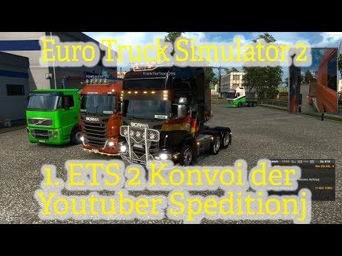 Euro Truck SImulator 2 online [002] / Durch Norddeutschland / Youtuber Speditions Konvoi