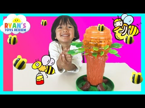 Family Fun Game for kids Honey Bee Tree Egg Surprise Toys Transformer Ryan ToysReview