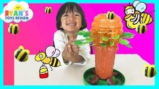 family fun game for kids honey bee tree egg surprise toys transformer ryan toysreview