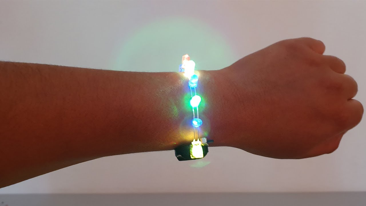Pulsera de LED Como hacer En Casa