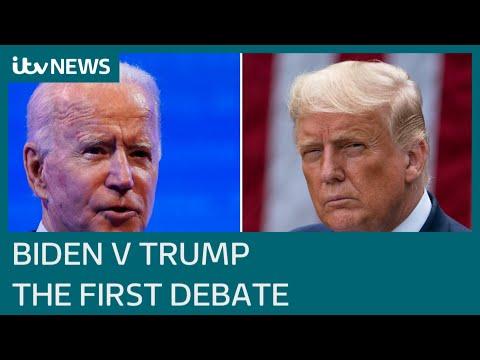 US election: Joe Biden and Donald Trump head into first debate | ITV News