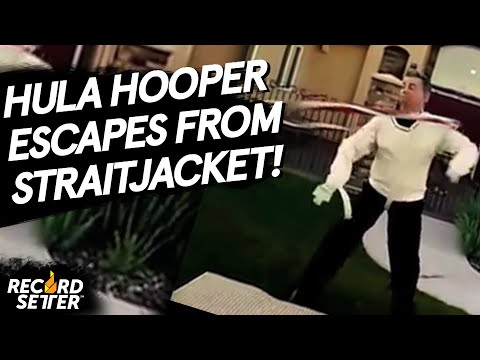 Fastest Straitjacket Escape While Hula Hooping!