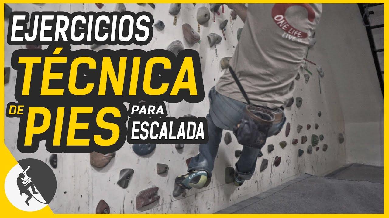 Ejercicios de TÉCNICA DE PIES para escalada. Mejorar entrenando en rocódromopara escalada en roca
