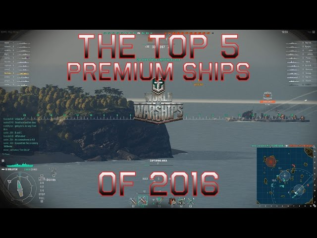 World of Warships Top Five Premium Ships of 2016