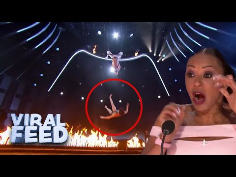 ACROBATIC ROUTINE GOES WRONG on America's Got Talent | VIRAL FEED
