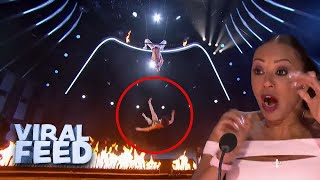 Download ACROBATIC ROUTINE GOES WRONG on America's Got Talent   VIRAL FEED
