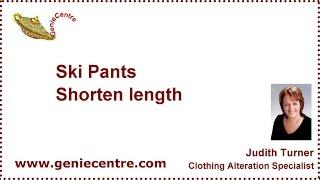 Ski Pants Shorten Length Intro