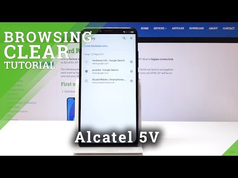 How To Clear Browsing Data In Alcatel 5V - Wipe Browsing History