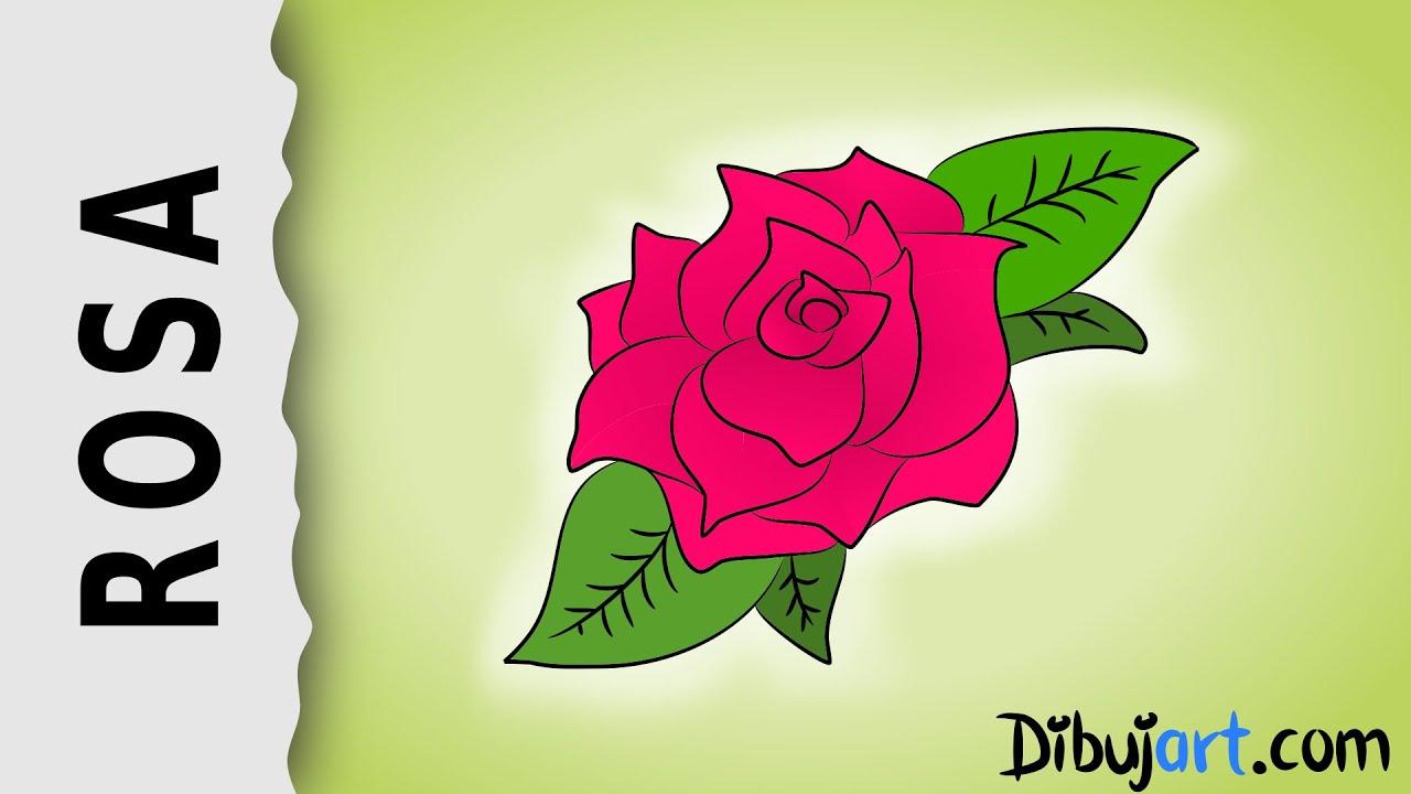 Cómo dibujar una Rosa #2 - Serie de dibujos de Rosas - YouTube