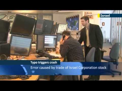 Typo triggers Israeli stock market crash: error forces halt in trading at Tel Aviv Stock Exchange
