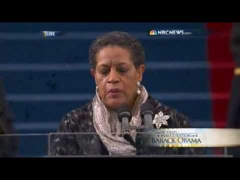 Myrlie Evers-Williams Gives The Inauguration Invocation