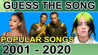 GUESS THE SONG CHALLENGE | POPULAR HIT SONGS FROM 2001 TO 2020 | FUN QUIZ QUESTIONS