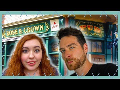British React To Epcot's Rose And Crown | Walt Disney World Vlog 2019