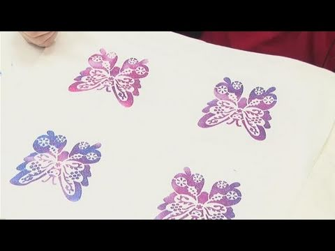 how to apply fabric painting stencils youtube