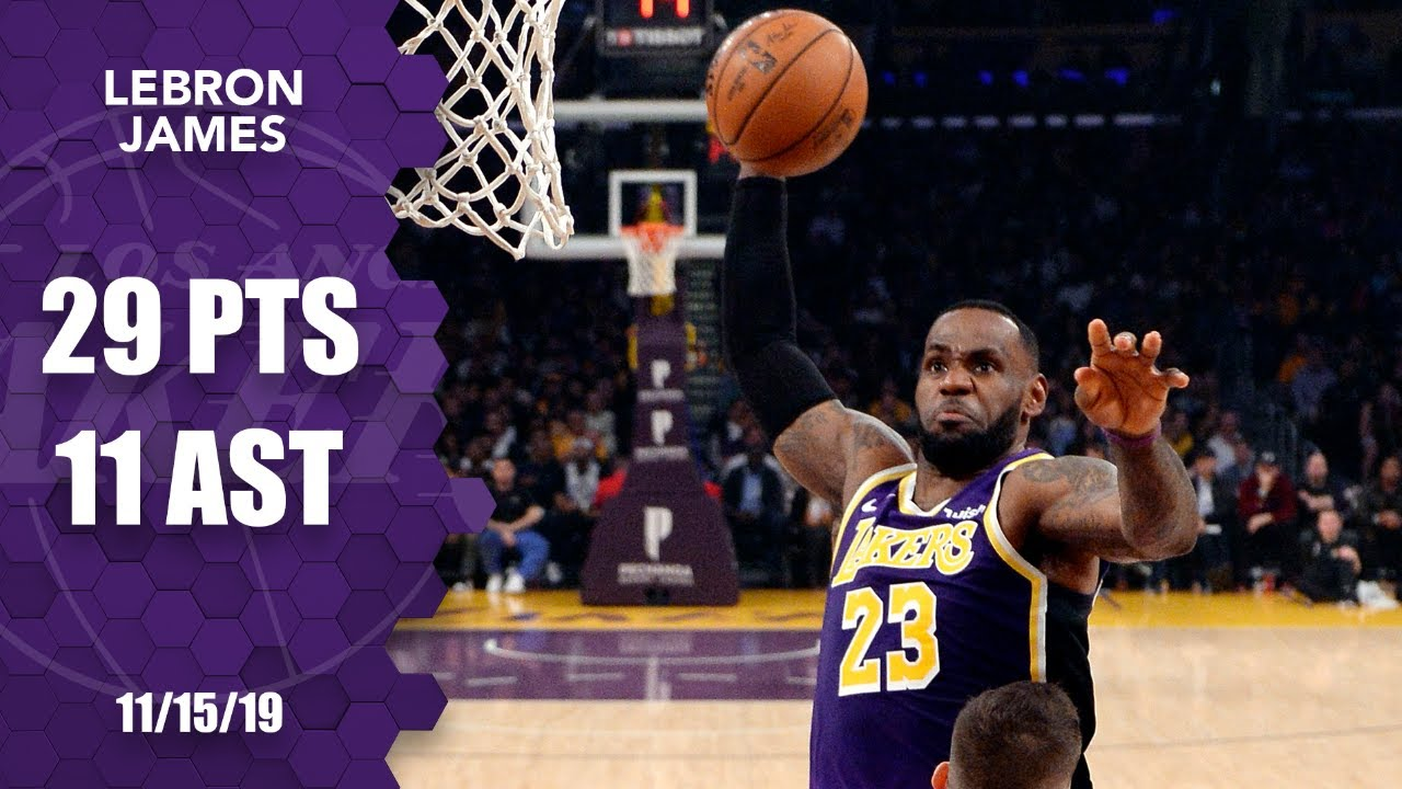 LeBron James dunks all over Nemanja Bjelica in Lakers vs. Kings | 2019-20 NBA Highlights