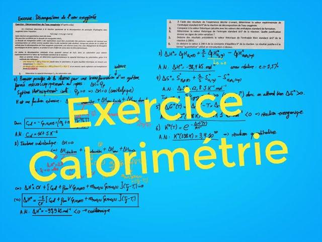 Calorimétrie (exercice)