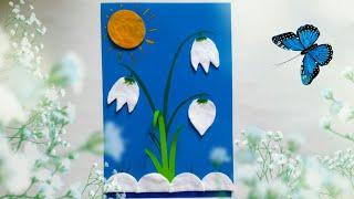 Цветы из ватных дисков. Весенние поделки своими руками.DIY. Crafts with paper
