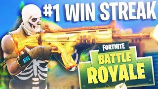 NEW #1 BEST DUO WIN STREAK!! *WORLD RECORD* (Fortnite Battle Royale Highlights)