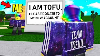 I Pretended To Be FAKE TOFU To Prank Him! (Roblox)