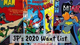 JP's 2020 Comic Want List