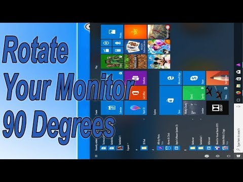Desktop & Laptop Screen Rotation Windows 10 Tutorial | Rotate Your Monitor 90 Degrees