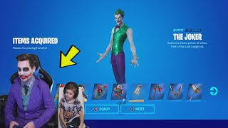 The Joker Giving 7 Year Old Kid JOKER LAST LAUGH Bundle! EARLY!! With FREE 1,000 Fortnite V-Bucks