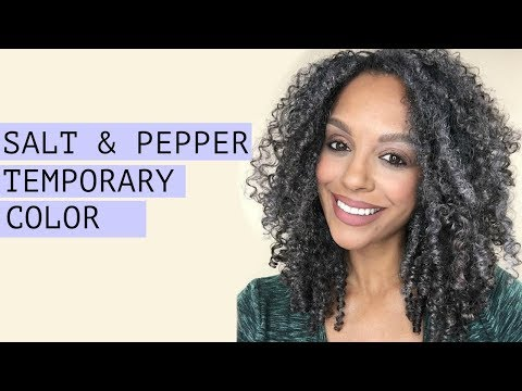 How To Salt Pepper Temporary Hair Color No Bleach Discocurlstv Youtube