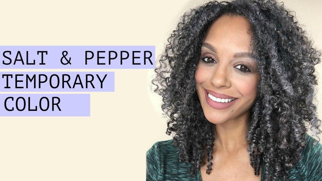 How To Salt Pepper Temporary Hair Color No Bleach