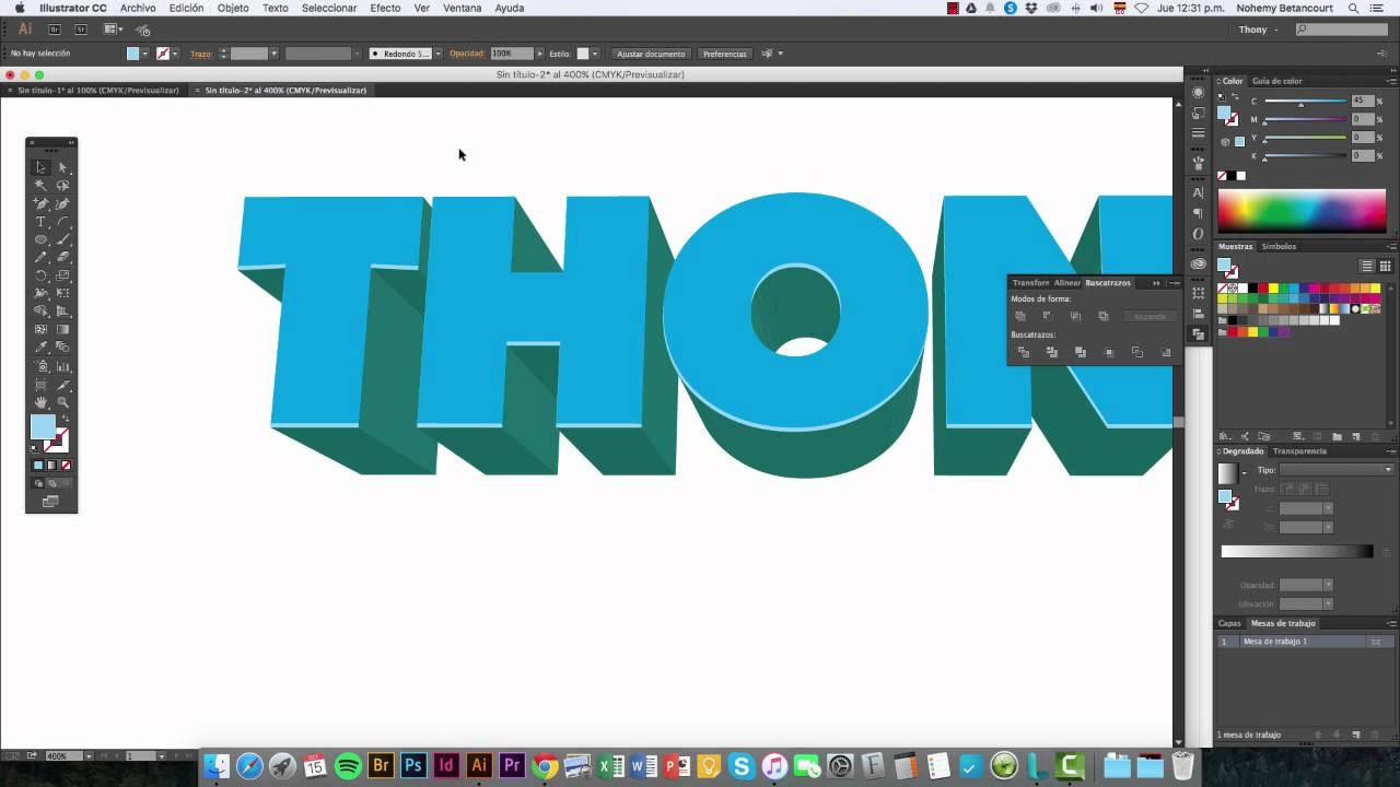 Adobe Illustrator Efecto 3d Texto Youtube