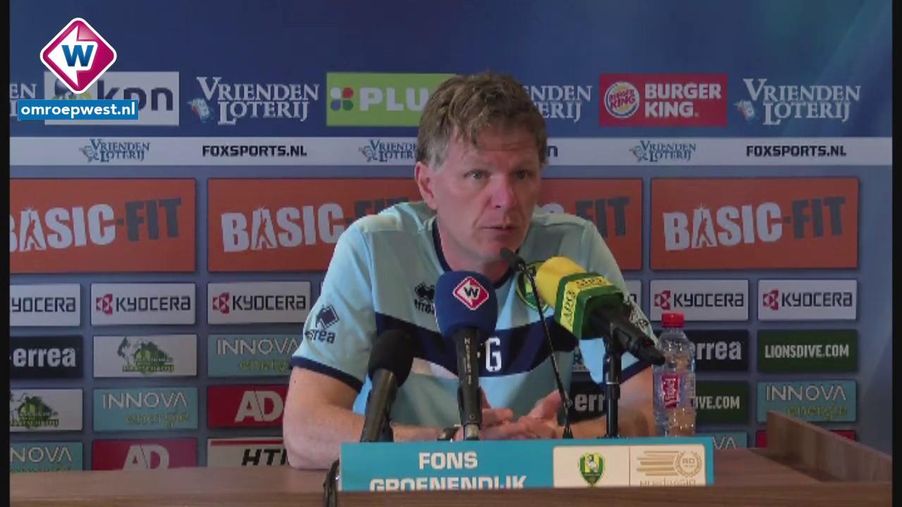 Ado   Willem Ii: ADO-trainer Fons Groenendijk Voor Willem II