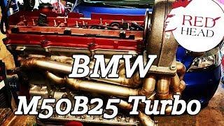 Motor M50B25 BMW E36 325 Turbo Motor Umbau (256S1) (256S2) Dragster mit Turbo M52B25 S50B32