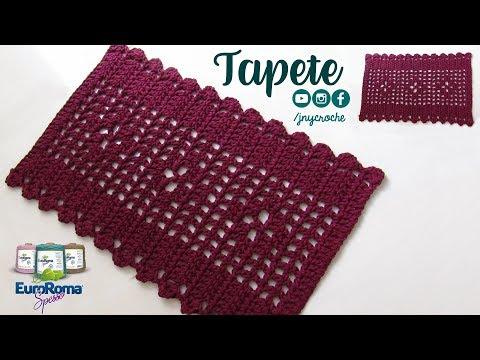 Tapete de crochê simples e fácil para iniciantes - JNY Crochê