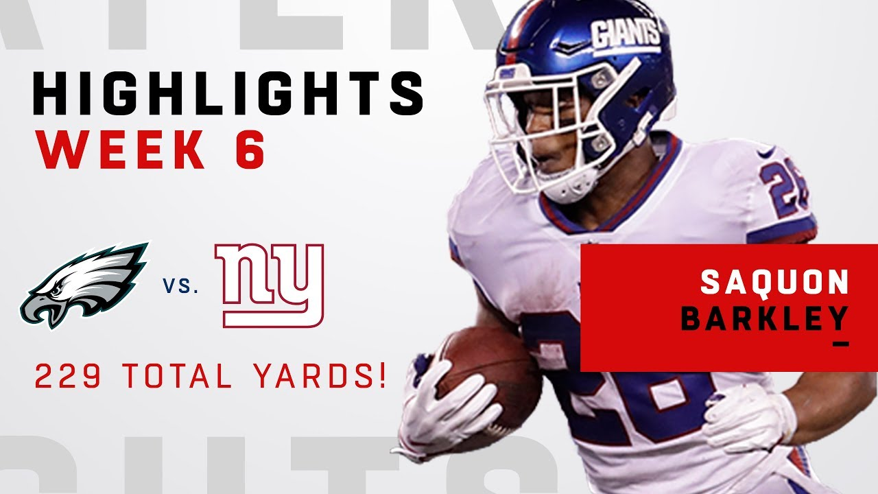 san francisco e969a 4fc04 Saquon Barkley Breaks Out w/ 229 Total Yards & 1 TD vs. Philly