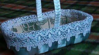 DIY/МК/ Как сделать корзинку для Пасхальных декоративных яиц, часть 1